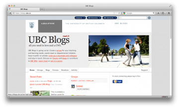 Create a UBC blog