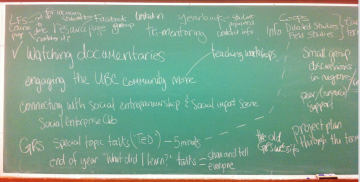 March 16 – Ideas generated from Session on Planning Future GRS Classes