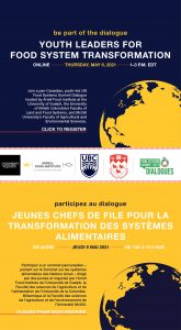 May 6th: Pan-Canadian, Youth-Led UN Food Systems Summit Dialogue